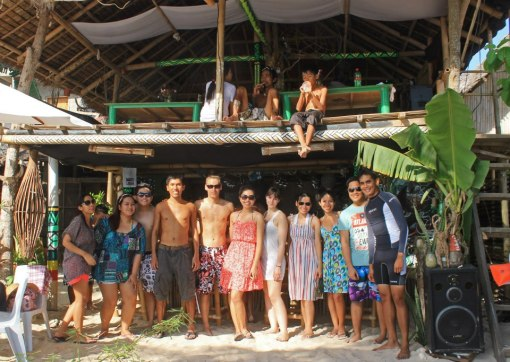 With friends who flew to the island to meet up with me! <3