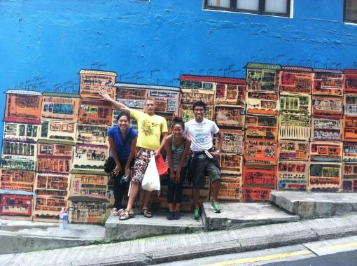 Hong Kong island mural