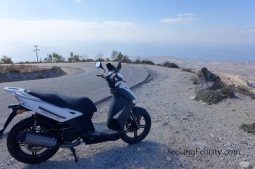 Our trusty 125cc motorbike