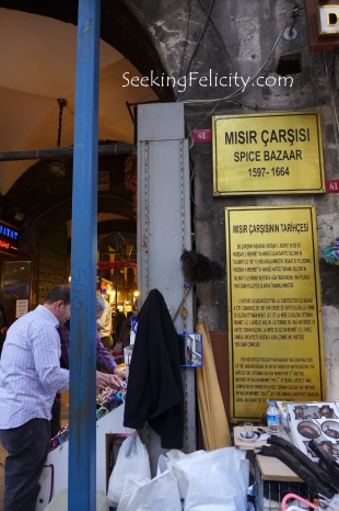 We know we found our destination upon seeing this plaque upon the entrance of the Spice Bazaar.