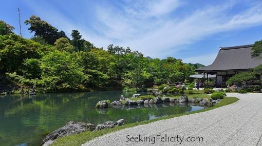 Inside Tenryū-ji's garden in Arashiyama
